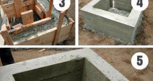 Simple DIY Backyard Concrete Fire Pit