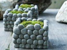 AIBEI-Creative atmungsaktive Stein Blumentopf Micro landschaft S ...