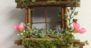Mini Fairy Window 2 1/2 inch by 2 1/2 inch size, add Fairy Shoes see below option~ Handcrafted by Olive ~ always one of a kind