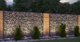 03 Gorgeous Gabion Fence Design for Garden Ideas