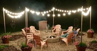 26+ Awesome DIY Fire Pit Plans Ideas With Lighting in Frontyard