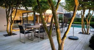 38 Relaxing Terrace Garden Design Ideas With Lighting