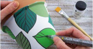Bemalter Topf für Pflanzen und Kräuter