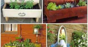 DIY Repurposed Kommode Pflanzer Instructions-20 DIY Upcycled Container Gartenarbeit