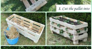 DIY Vertikale Erdbeerpaletten Pflanzer Anleitung – # Gartentipps für W … #an