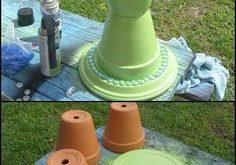 Gibt es eine Gartendekor-Idee, bei der Tontöpfe nicht nützlich sind? Hier ist ...