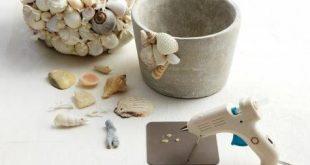 Shell Garden Pots - Spaß mit Kindern! #kinder #crafts