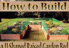 Tipps zum Erstellen eines U-förmigen erhöhten Gartenbetts. Einen eigenen Hausgarten zu gestalten ist
