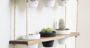 TriBeCa Trio Pot Shelf / Hanging Shelves / Planter Shelves / Floating Shelves / Three Tiered Shelf