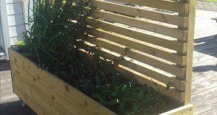 Wooden privacy fence patio & garden ideas (61 Terrassen- und Gartenideen aus Hol...